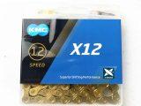Cadena KMC X12 TI-N oro 12 velocidades