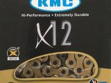 Cadena KMC X12 TI-N oro-negro 12 velocidades
