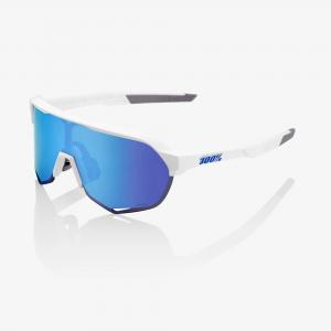Gafas 100% S2 blanco mate hiper blue mirror